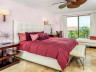 Master bedroom in suite 305 at the Somerset