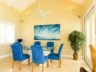 Beachfront Grace Bay Beach luxury 2 bedroom condo view dining room