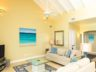 Beachfront Grace Bay Beach luxury 2 bedroom condo view living room