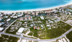 drone photo grace bay turks and caicos islands